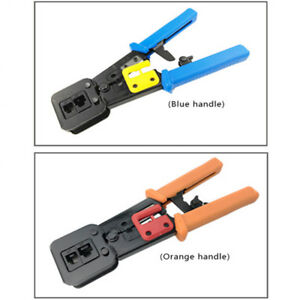 EZ-RJ45 Crimper Tool Pliers RJ11//12 Cat5e Cat6 Cable Stripper Pressing Clamp