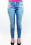 H165 New Retro aderenti Bardot Jeans Fashion Saldi Sixties 'ewy' in denim Brigitte PwxIW81