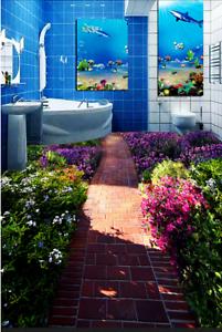 3D Sunny Garden Road 86 Floor Wall Paper Murals Wall Print AJ WALLPAPER UK Lemon