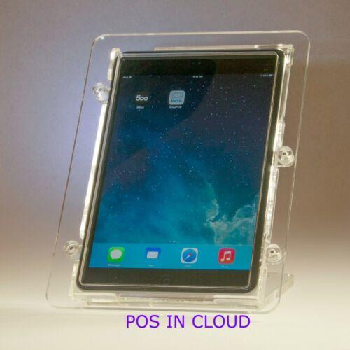 Kiosk Square Reader iPad mini VESA Security Acrylic Enclosure w Stand for POS