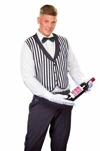 Butlerweste Butler Weste Clown Herren Fasching Karneval Streifen schwarz weiß