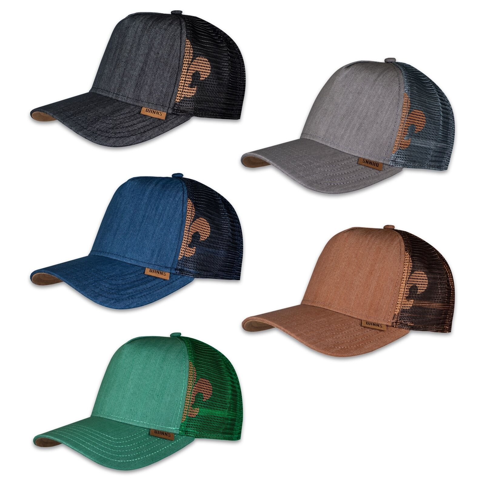 Djinns Linen 2014 Trucker Cap Mesh Hat Cap MESHCAP Black Blue Grey Green