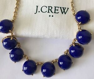 NWT-J-Crew-Bubble-Stone-BYZANTINE-BLUE-Necklace-with-dust-Bag