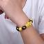 thumbnail 72 - Men-Fashion-Black-Lava-Stone-Gold-amp-Silver-Lion-Beaded-Cuff-Charm-Bangle-Bracelet