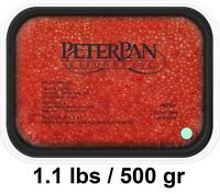 Best Quality Peter Pan Kosher Salmon Red Caviar - Pink Ak56v - 1.1 Lbs / 500 Gr