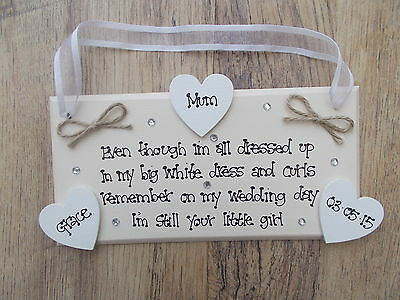 Personalised Wooden Mother of Groom/ Mother Of the Bride Plaque Gift