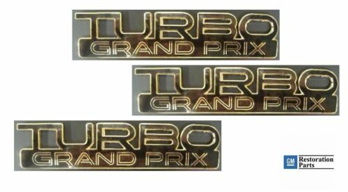 89 /& 90 NEW Pontiac Grand Prix Turbo Emblem set BLACK 3