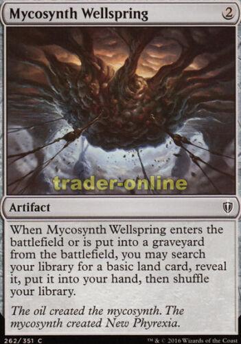 Commander 2016 Magic 4x Mycosynth Wellspring Mycosynth-Urquell