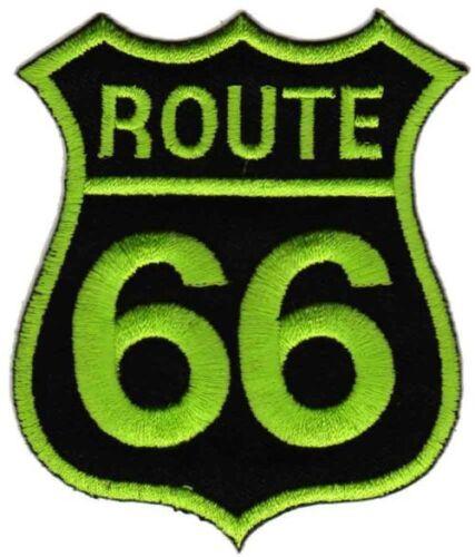 bc01 Route 66 Biker Aufnäher Bügelbild Applikation Patch Chopper Motorrad USA