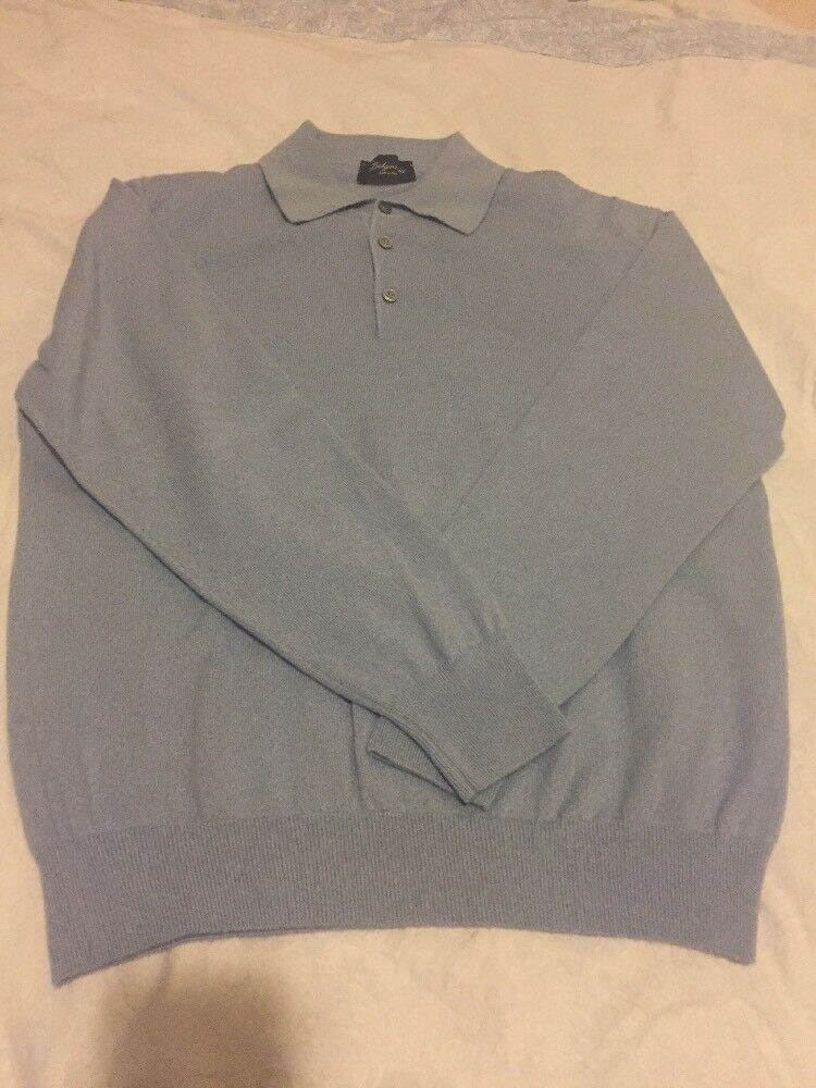 belgravia men blue sweater made in Italy. 100% Cashmere.
