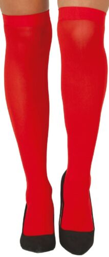 Ladies Solid Bright Colours Carnival Hen Do  Fun Fancy Dress Stockings Socks