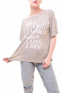 Sonic Women's Get Grey S Authentic Tonight Down £64 Wildfox Bcf79 Tee Rrp Top qXBTRX