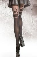 """Highly Fashionable Patterned Microfibre Suspender  Tights """" ADANA"""" 40 Den Fiore"""