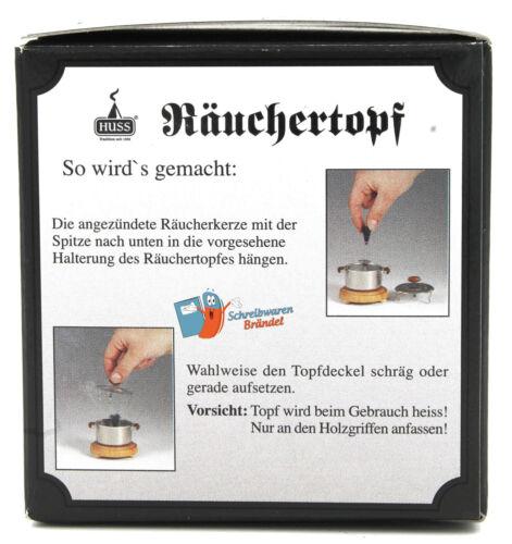 Jürgen Huss Räuchertopf Neudorfer Räucherofen für Räucherkerzen Topf Erzgeb.