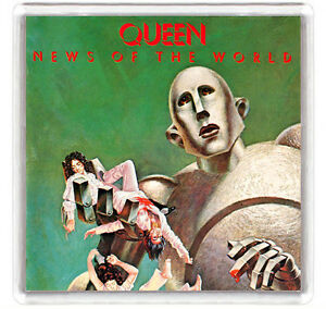 QUEEN - NEWS OF THE WORLD LP COVER FRIDGE MAGNET IMAN NEVERA upRIgTjU-09160713-172053560