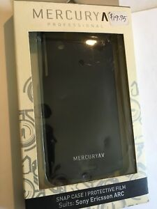Sony-Ericsson-Xperia-Arc-X12-Black-Snap-Case-amp-Bonus-Protective-Film-SNCSEARCB-M