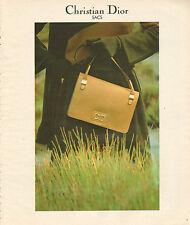 Publicité 1978  Sacs à main Maroquinerie Christian Dior