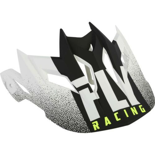 FLY RACING DEFAULT 2019 HELMET VISOR MATTE WHITE//BLACK WHITE//BLACK 73-91121