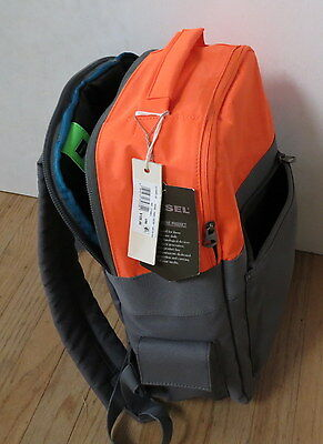Diesel Jeans Backpack Day pack Orange & Gray / Grey Brand New with Tags