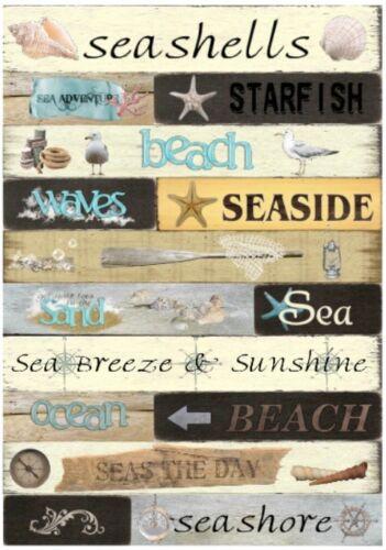 Decoupage-Bastelpapier-Softpapier-Serviettentechnik-maritim-Beach-Strand-12275