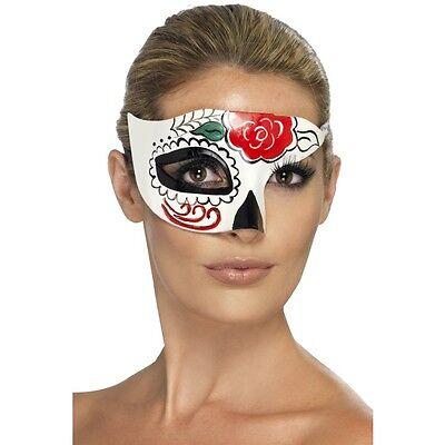 Women's Day Of The Dead Mezza Maschera Occhi Ballo In Maschera Costume Halloween Voodoo-mostra Il Titolo Originale Pulizia Della Cavità Orale.