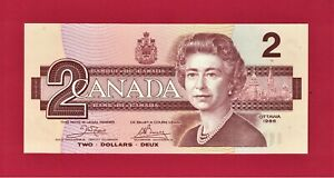 UNC-2-DOLLARS-1986-CANADA-PREFIX-034-ARJ-034-P-94a-Sign-J-W-Crow-amp-G-K-Bouey