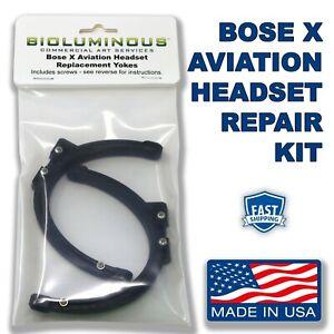 KIT - BOTH SIDES Bose X Aviation Headset Earcup Parts Yokes Bails Stirrups A10