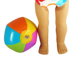 """Blow Up Bright Colors Beach Ball Toy 5"""" fits 18"""" American Girl Doll Clothes"""