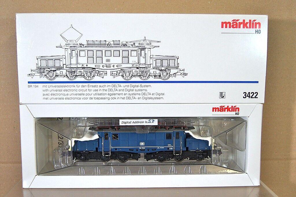 Marklin Märklin 3422 Numérique 6080 Db blue Classe Br 194 178-0 E-Lok Locomotive