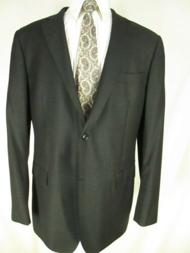Suit Supply Mens Charcoal 2 Btn VBC S100s Suit 44L