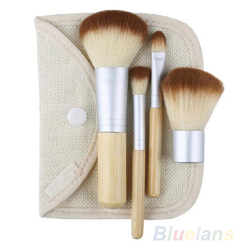 New Fashion Trendy Bamboo Makeup Brush Set 5Pcs Make Up Brushes F