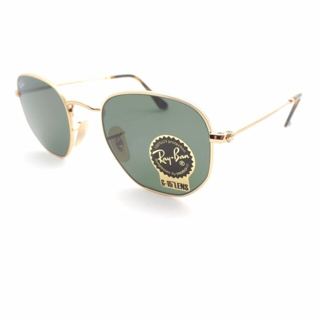 59ef38c5b7 Ray-Ban Rb3548n 001 Gold Frame Green Classic 54 Mm Lens Sunglasses ...
