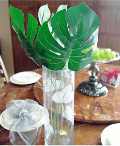 10pcs-ARTIFICIAL-Monstera-BRANCH-TREE-FAKE-TURTLE-LEAF-PLANT-FAUX-Foliage-Leaf