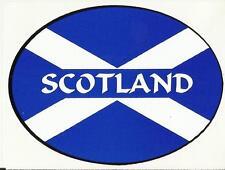 Scotland Saltire Scottish Flag Oval External Car Bumper Sticker Decal