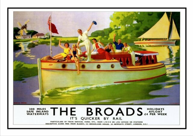 TU23 Vintage River Thames GWR Travel Railway Poster Re-Print A4