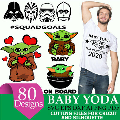 Baby Yoda Svg Big Bundle 80 In 1 Star Wars Svg Baby Yoda Svg Eps Dxf Ebay