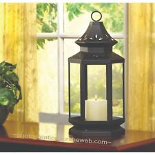 NEW HARTFORD SMALL LARGE WOODEN METAL DECORATIVE CANDLE LANTERN HOLDER DECOR