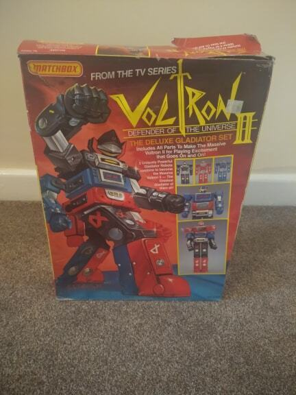 VOLTRON II - DEFENDER OF THE UNIVERSE - THE DELUXE GLADIATOR SET by MATCHBOX