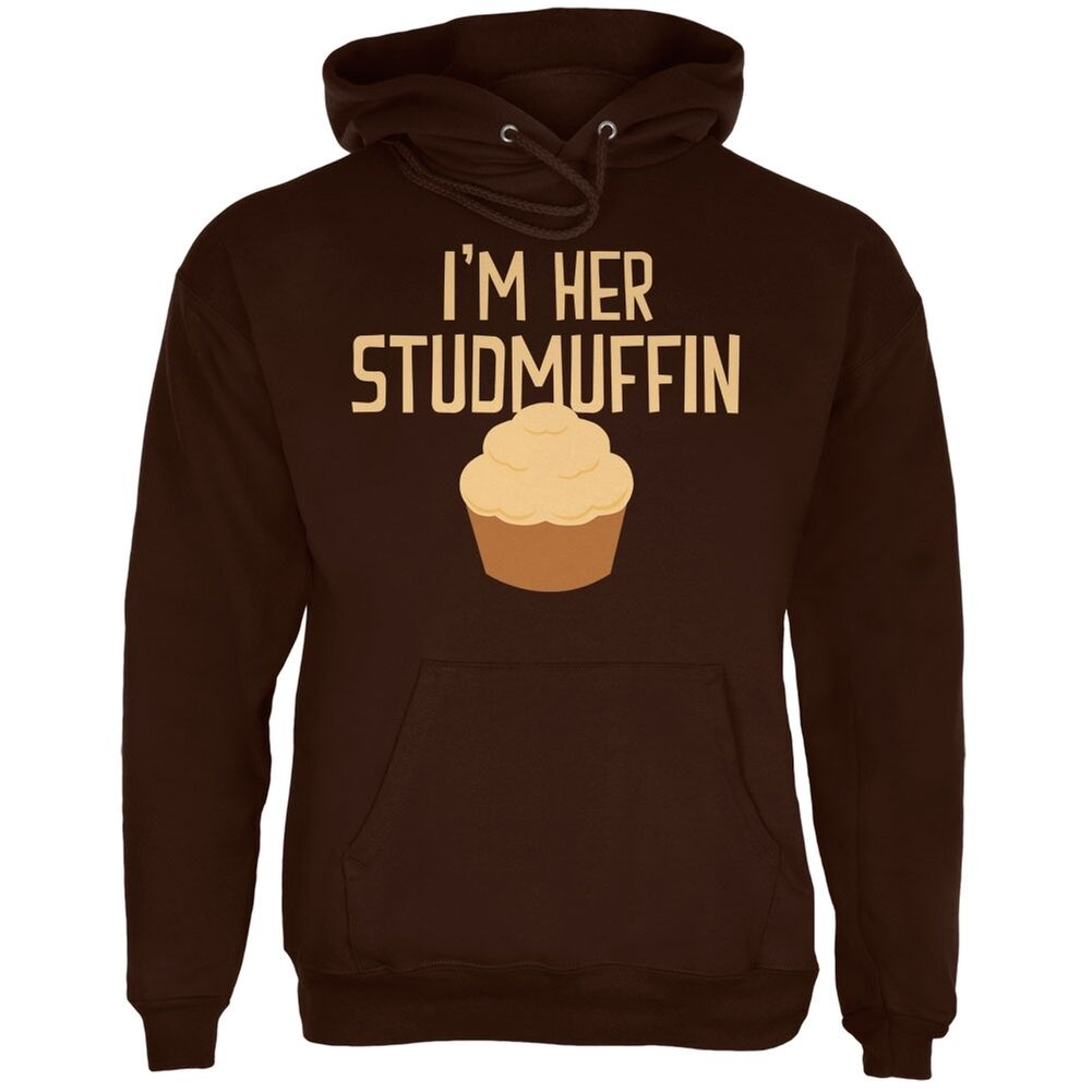 Valentine's Day I'm Her Studmuffin Braun Adult Hoodie