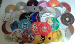 Lot-of-50-CD-039-s-DVD-039-s-for-ARTS-CRAFTS-PROJECTS-Recycled-Art-Nice-Color-Variety