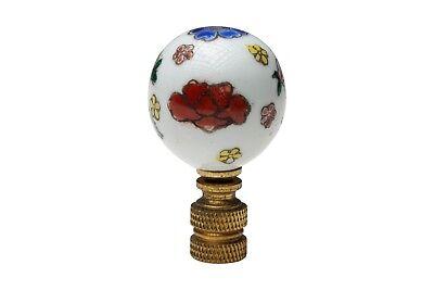 Beautiful Multicolor Floral Porcelain Ball Table Lamp Finial