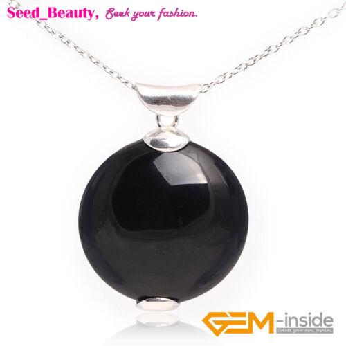 Cadeau Gratuit Box//Sac Fashion cabochon Coin Stone Bead Pendentif Pour Collier