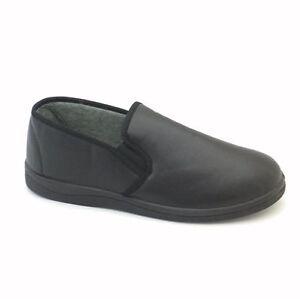 Para HOMBRE DR LIGHTFOOT comodidad Viny PU MEMORIA FOAM Resbalón en Zapatillas Zapatos Tallas 6-11