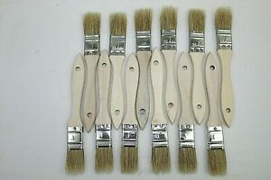 artist and crafts paint brushes lot of 12 1 inch horse hair wood handle quality
