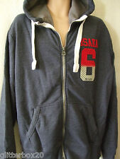 NEW £65 SUPERDRY XLARGE NAVY BLUE MARL OSAKA 6 FULL  ZIP HOODIE