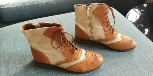 3 Rrp Shoe £99 Boots Linen Amber In With Ladies Embassy Brick Lane Size PSwvP1