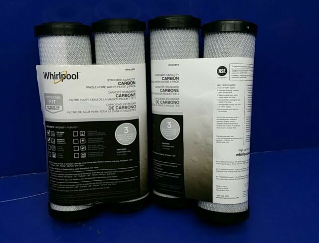 Whirlpool WHA2BF5 Carbon Block Whole Home Water Filter Standard Capacity White