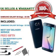 Samsung Galaxy S6 Edge SM-G925F 32GB Black Sapphire Unlocked Smartphone GRADE B+