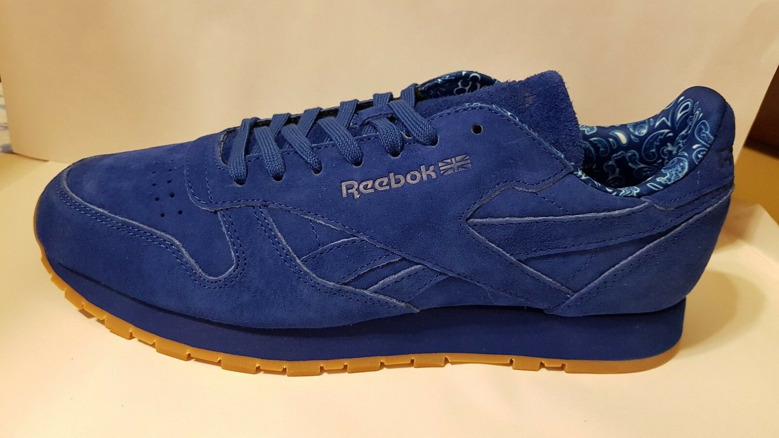 Reebok Classics Mens Leather Paisley Pack Collegiate bluee BD3233 us-10.5