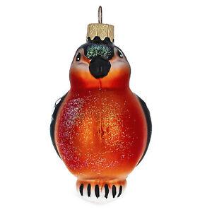 Bullfinch Bird Mouth Blown Mouth Blown Glass Christmas ...